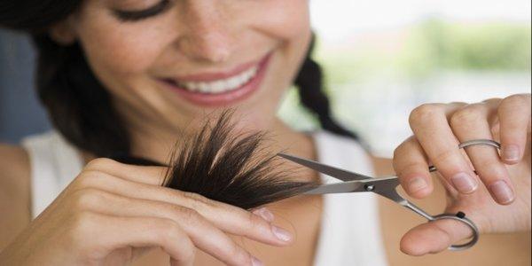 pontas espigadas/duplas no cabelo